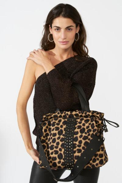 ACE Urban Tote bag leopard print Econyl