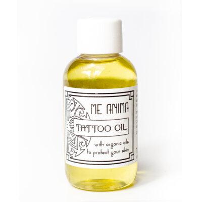 Me Anima tattooolja, den perfekta oljan för eftervård av tatueringar.
