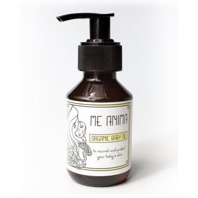 Me Anima barnolja, en mjukgörande vårdande olja för ditt barn