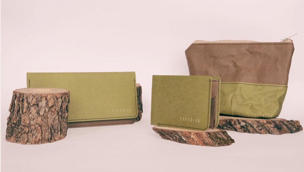 Plånböcker och förvaringsväskor från Paperish i miljövänligt och slitstarkt pappersmaterial